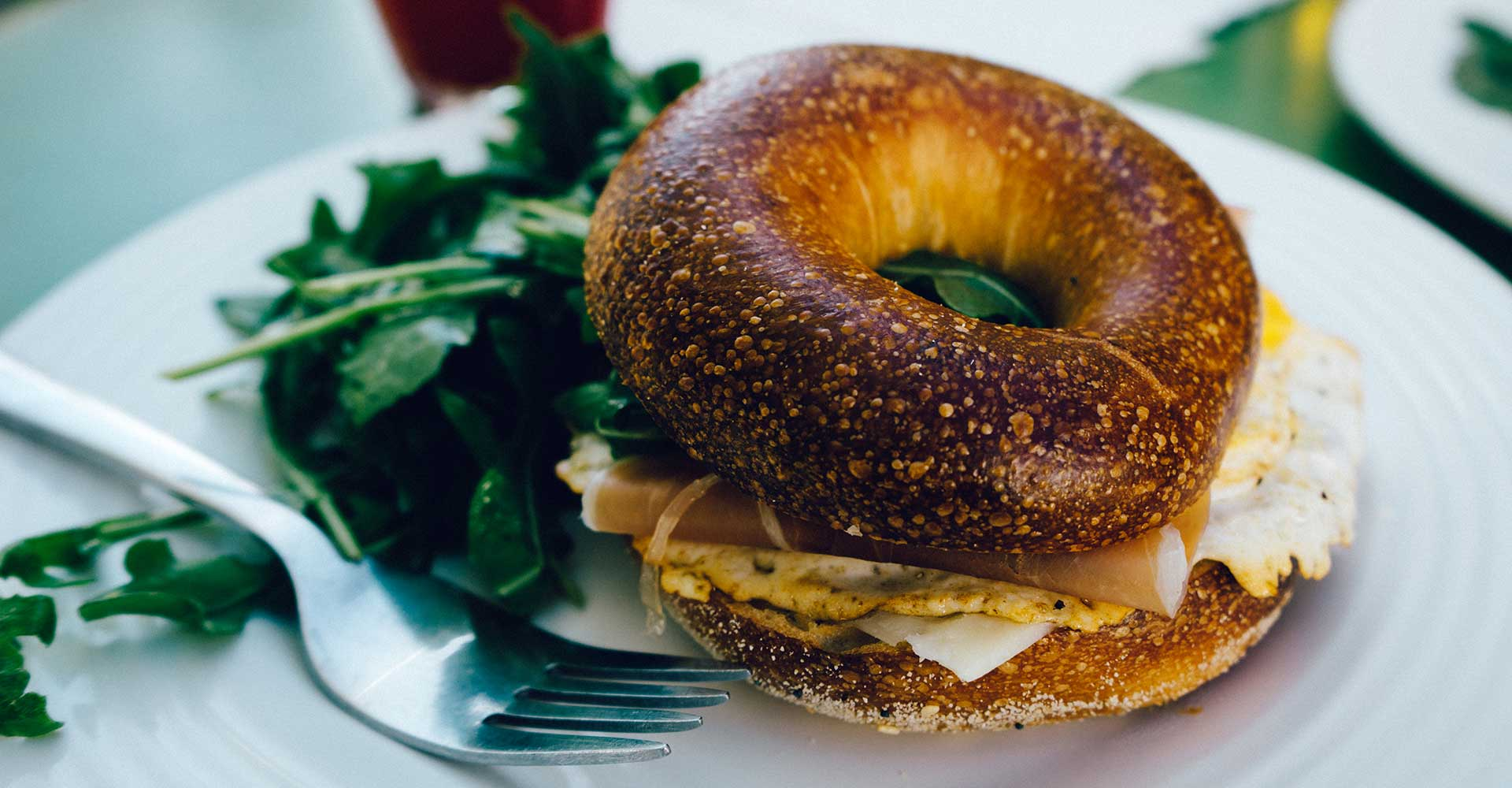 food-breakfast-fork-bagel